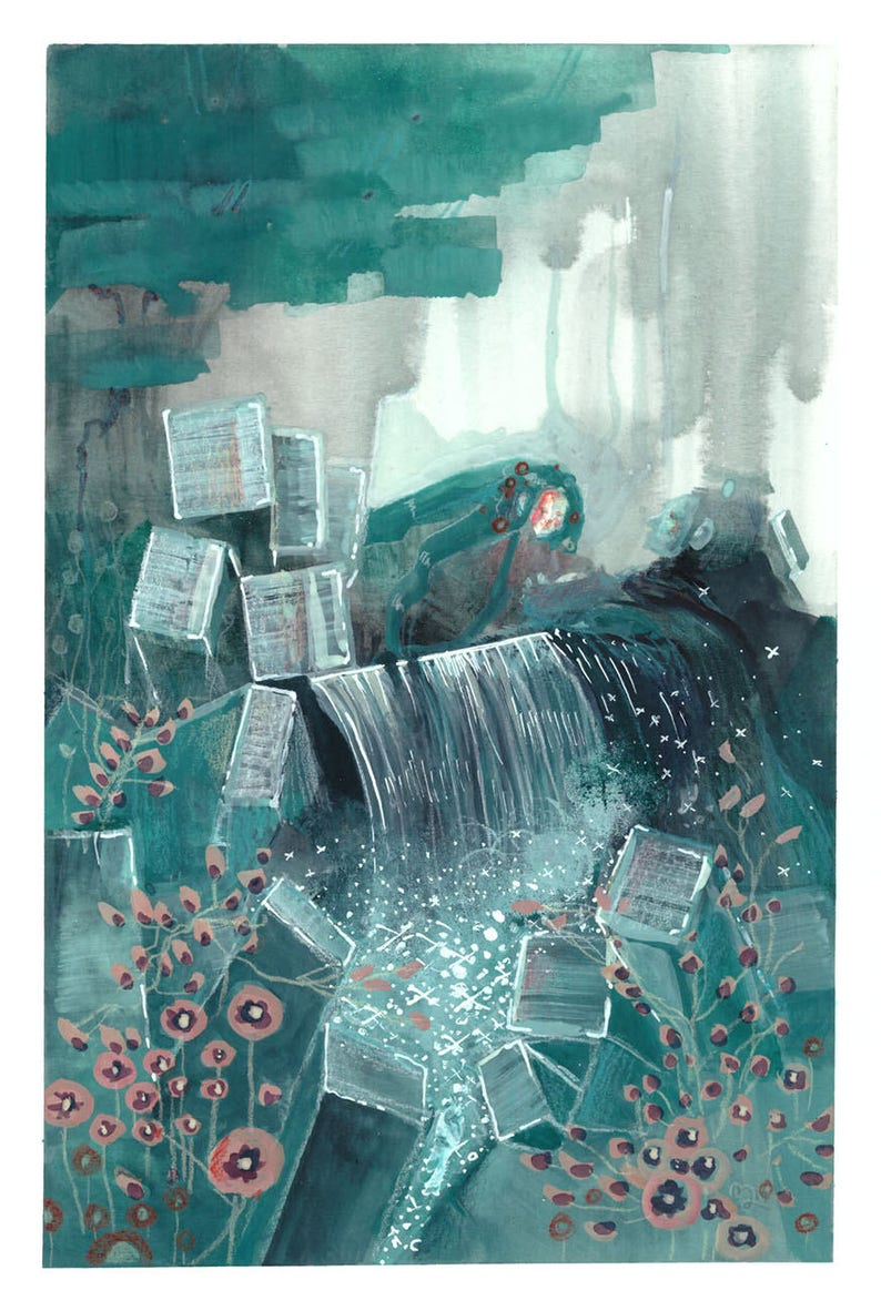 The Prince of the Water Kingdom is on call  original painting image 0