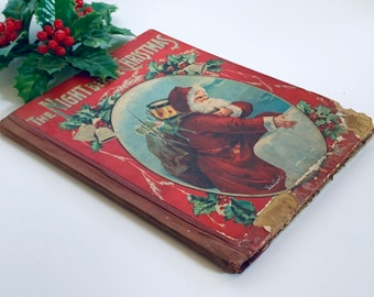 """Antique """"The Night Before Christmas"""" Children's Book"""