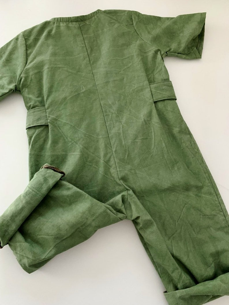 2t Textured green playsuit 18month