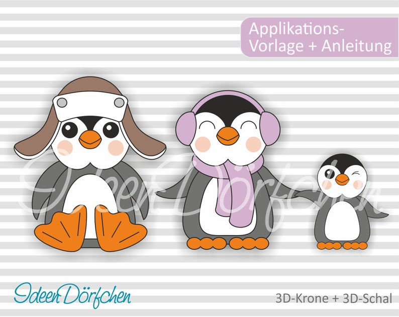 Applikationsvorlage Pinguine Fritz und Lotti eBook image 0