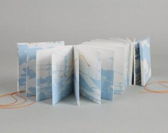 Landscape photography Artist's Book, Japanese skyline landscape, limited edition book arts