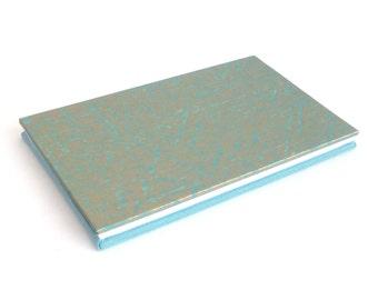 Wallet photo album, album scrapbook, Baby brag book, Mini accordion book, photo scrapbook, accordion album, teal gold