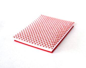 Accordion photo album, scrapbook album, small guestbook, red and white book, baby brag book