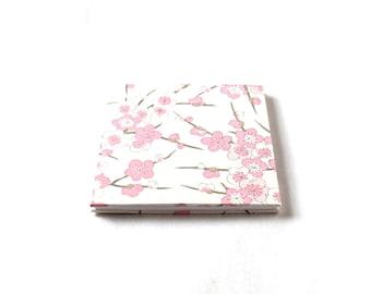 Wedding photo album, Sakura memory book, cherry blossoms wedding brag book, instagram album - square accordion 4 x 4 inches