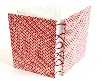 XOXO sketchbook, Love Journal, Wedding Guestbook, Hand bound book, recycled kimono book, Valentine journal
