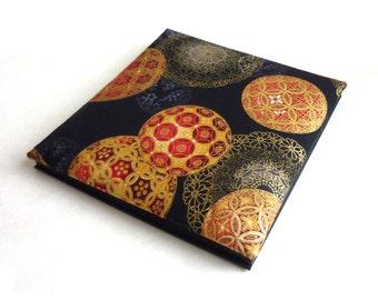 Photo album, accordion scrapbook, black pages, photo guestbook, christmas memory book, christmas balls, custom made