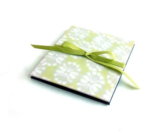 Square baby brag book, 4 x 4 photo album, instagram album, chartreuse square album, memory book, ready to ship