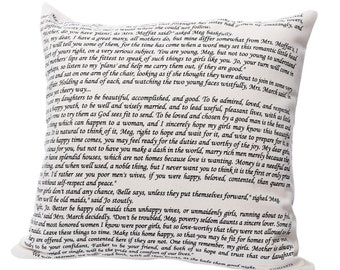 Little Women Pillow Cover - Louisa May Alcott, Throw Pillow, Book Pillow, Literary Pillow, Book Nook, Book Lover, Books, Reading