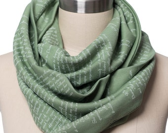 Anne of Green Gables Book Scarf - Infinity Scarf, Literary Scarf, Lucy Maud Montgomery, Book Lover Gift, Gradution Gift, Back to School Gift