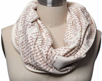 Wuthering Heights Book Scarf - Infinity Scarf, Literary Scarf, Emily Brontë, Book Lover, Books, Reading, Teacher Gift