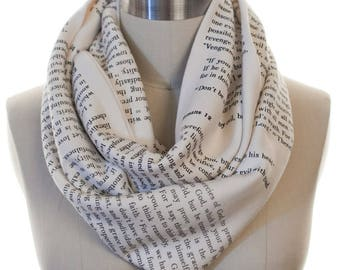 Romans 12 Book Scarf - Infinity Scarf, Literary Scarf, Book Lover, Books, Reading, Teacher Gift