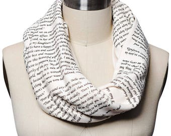 Little Women Book Scarf - Infinity Scarf, Literary Scarf, Louisa May Alcott, Book Lover, Books, Reading, Teacher Gift