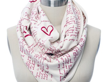 I Carry Your Heart Book Scarf - Infinity Scarf, Literary Scarf, E.E. Cummings, Book Lover, Books, Reading, Teacher Gift