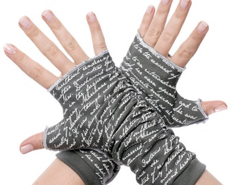 Sense and Sensibility Writing Gloves - Fingerless Gloves, Arm Warmers, Jane Austen, Literary, Book Lover, Books, Reading