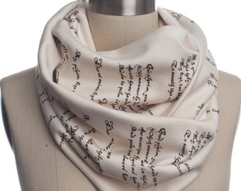 Romeo and Juliet Book Scarf - Infinity Scarf, Literary Scarf, Shakespeare, Book Lover, Books, Reading, Teacher Gift