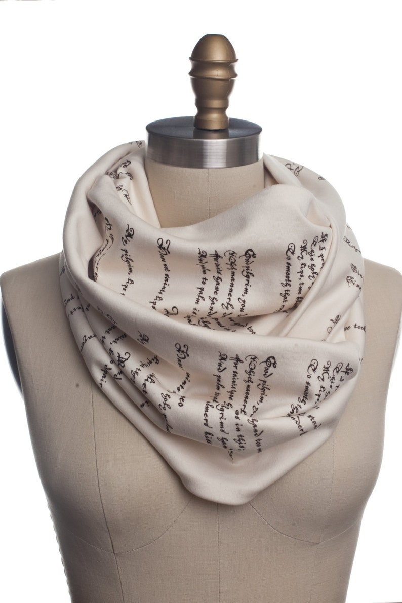 Romeo and Juliet Book Scarf  Infinity Scarf Literary Scarf image 1
