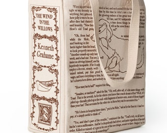 The Wind in the Willows Book Tote - Kenneth Grahame, Tote Bag, Literary, Book Lover, Books, Literature, Teacher Gift, Animals