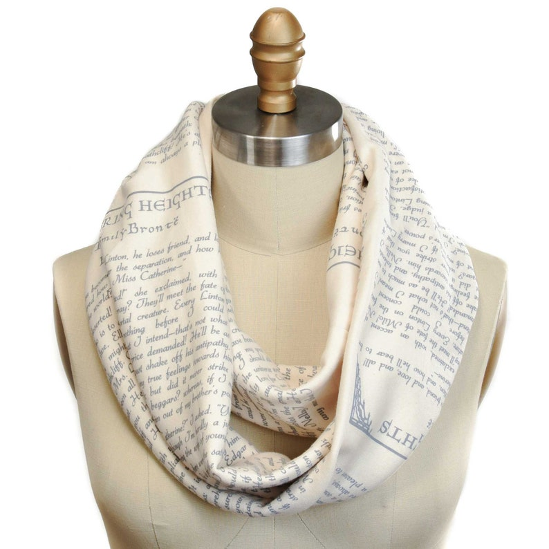 Wuthering Heights Book Scarf  Infinity Scarf Literary Scarf image 0