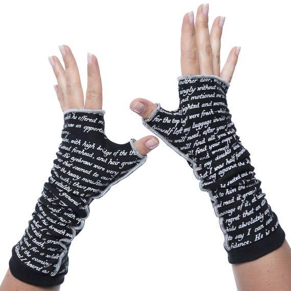 Pride and Prejudice Fingerless Writing Gloves