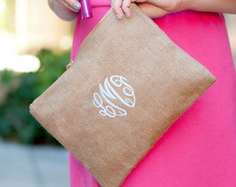 Personalized Zipper Pouch. Monogram Zipper Bag, Bridesmaid Gift. Zip Purse. Personalized Gift, Makeup Bag. Cosmetic Bag. Wedding Party Gift