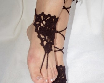 e9ecc7be72ca84 Black Lace barefoot Sandals