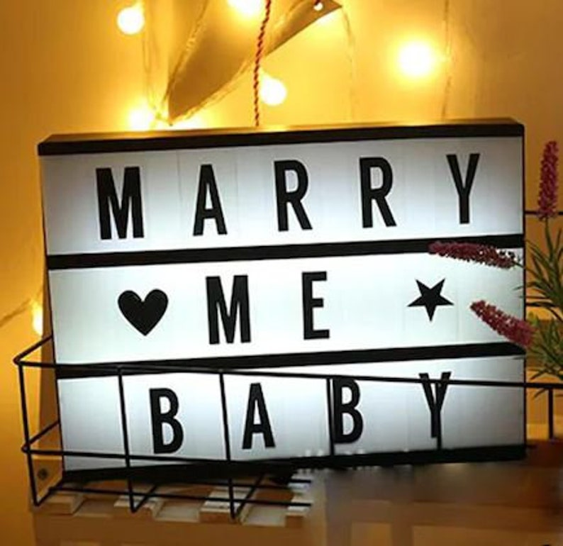 HANDMADE A4 size, Light, Letter, Led Board, Led Message Board, Lightbox  Light Signboard with 96 Changeable Letters