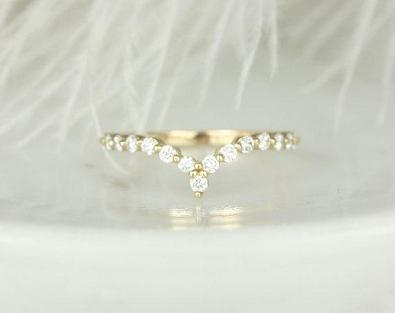Petite Naya,Petite Bubble & Breathe Chevron Ring,14kt Gold Diamond Minimalist Nesting Ring,V Ring,Rosados Box