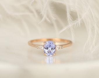 V-MONI Environmentally Friendly Color Czech Diamond Ring Rose Gold