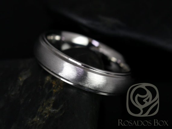Rosados Box Matt 6mm Cobalt Half Round Raised Edge Duo Finish Band