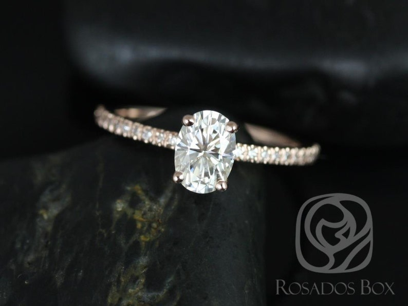 d9263eb35ee5f 3ct Oval Forever One Moissanite Diamonds Thin Solitaire Accent