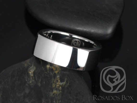 Rosados Box Urban 8mm Tungsten European/Square Shaped High Finish Band