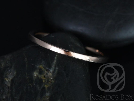 14kt Gold Classic Plain Wedding Band Matching to Marcelle/Blake Band Ring,Rosados Box