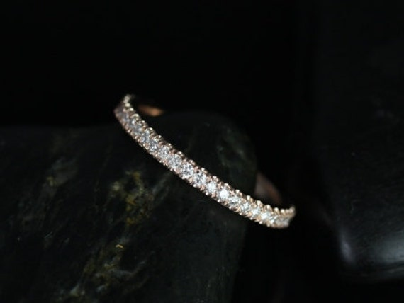 Rosados Box 14kt Rose Gold Matching Band to Rujira Diamond ALMOST Eternity Band