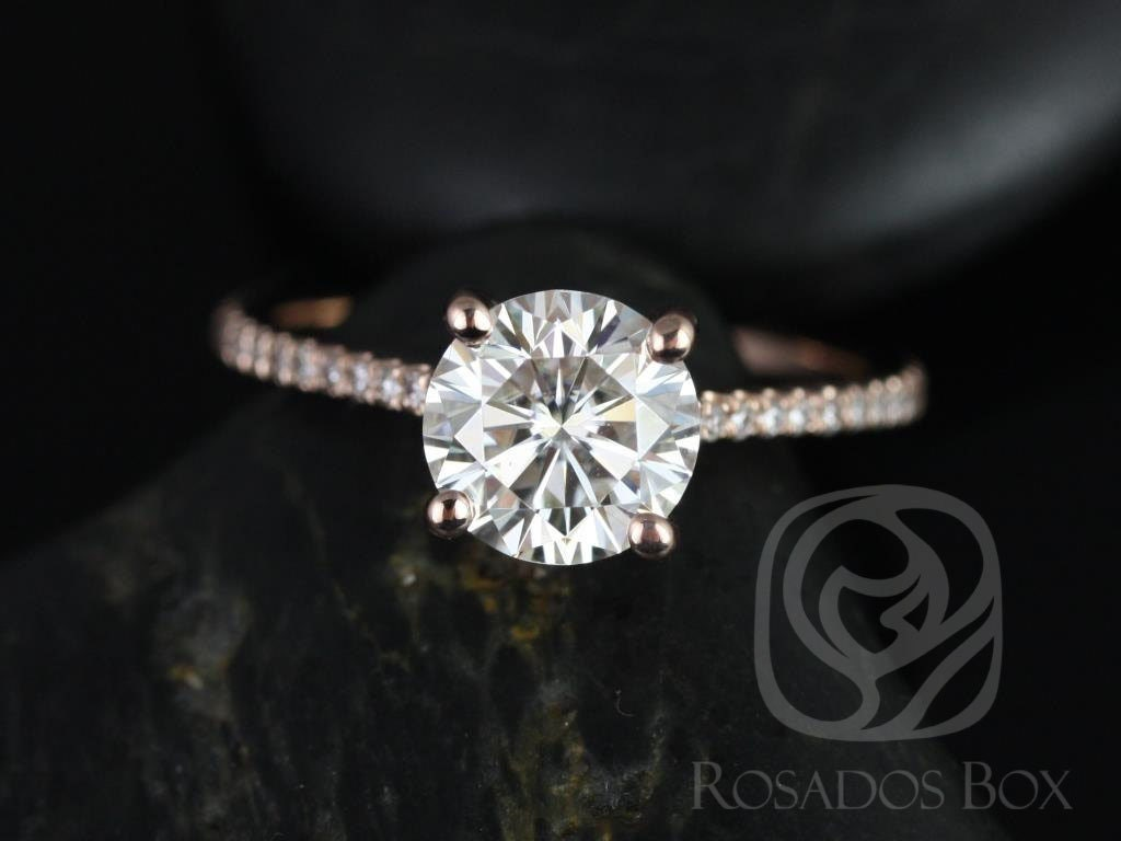 Loose Round Forever Classic 7mm Classic Moissanite=1.25 CT Diamond w Certificate