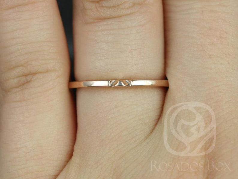 Classic PLAIN Notched Matching Band to Eloise 66.577.58mm Ring,14kt Solid Gold,Rosados Box