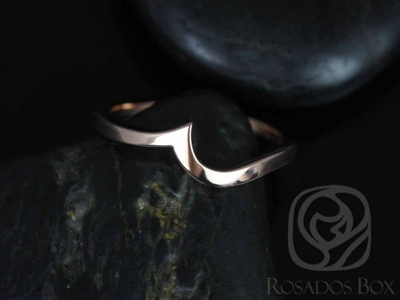 14kt Rose Gold Matching Band to Odala 5.5mm Curved PLAIN Band Ring,Rosados Box