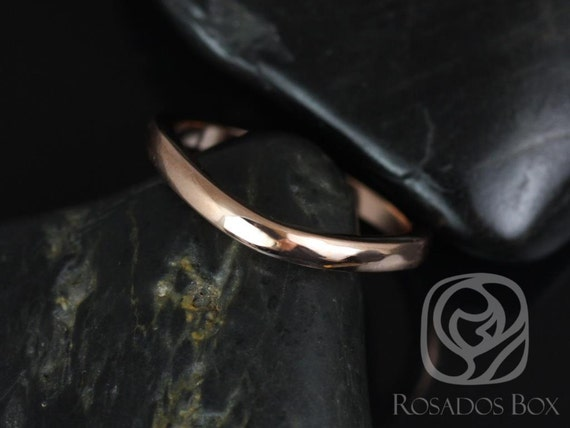 14kt Rose Gold Curved Nesting Matching Band to Robyn 7mm PLAIN RingRosados Box