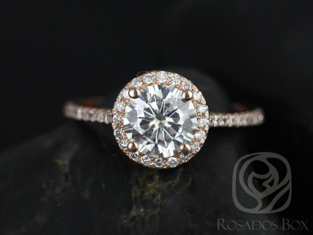 Honesty Diamond Micro Pave Halo With Split Shank Setting Jewelry & Watches