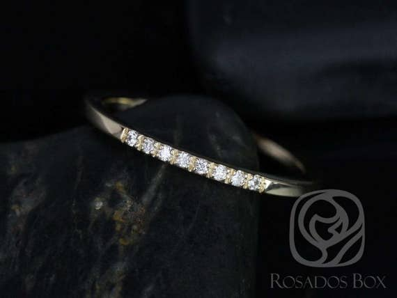 Rosados Box 14kt Matching Band to Gigi Diamonds Short-Stop LESS HALFWAY Eternity Band