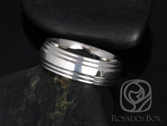 Rosados Box Xander 7mm Cobalt Double Raised Edge High Finish Band