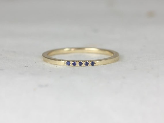 Rosados Box Riley 5.0 14kt Solid Gold Rainbow Sapphire Stackable Ring (S.L.A.Y. Collection)