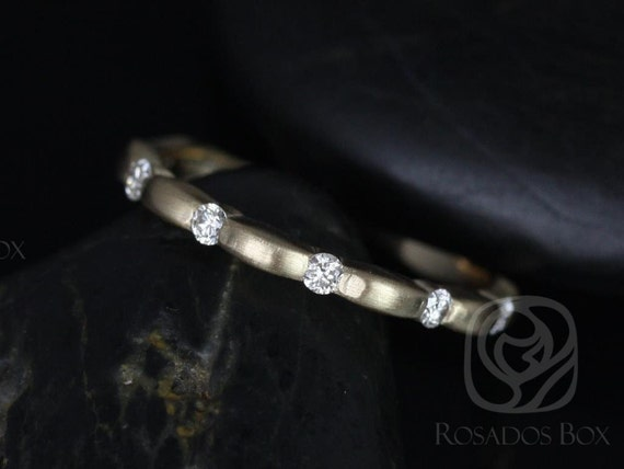 Rosados Box Juno 14kt Yellow Gold Tension Bubble Diamond HALFWAY Eternity Band