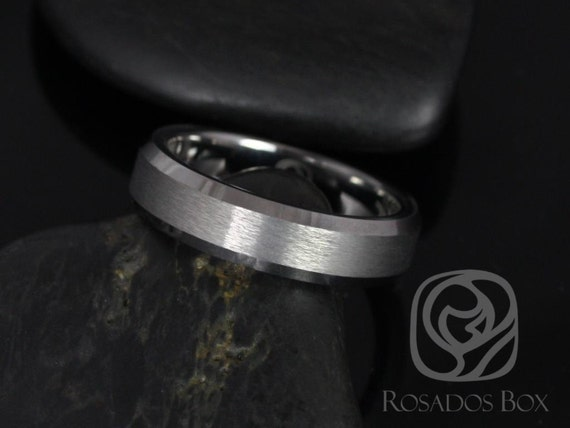 Rosados Box Drew 6mm Tungsten Beveled Edge Duo Finish Band