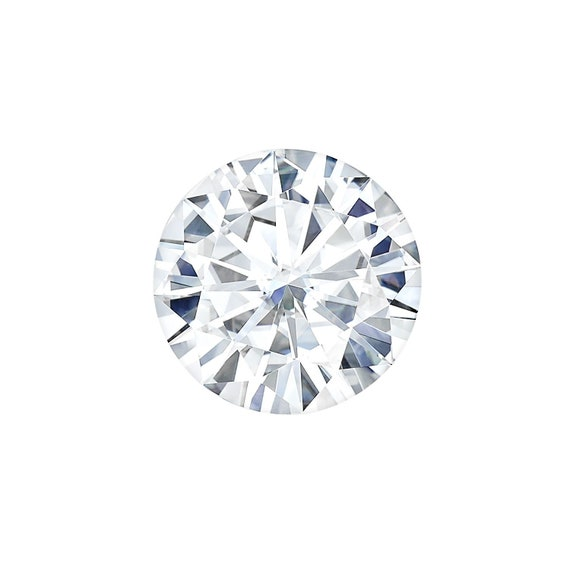UPGRADE to 8.5mm Forever One DEF Round Moissanite,Rosados Box