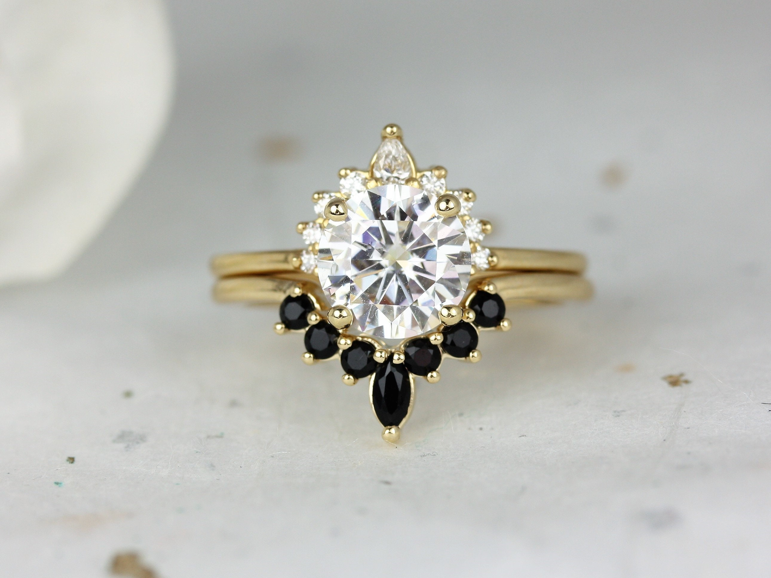 2ct Kylie 8mm & Marjorie 14kt Solid Gold Forever One