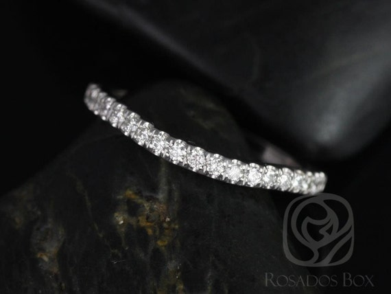Rosados Box 14kt White Gold Matching Band to Dita Diamonds HALFWAY Band