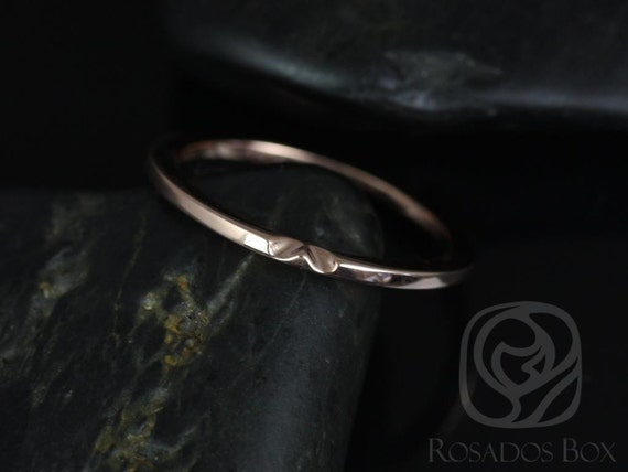 Rosados Box 14kt Rose Gold Matching Band to Ann 10x7mm PLAIN Band NOTCHED