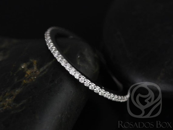 Rosados Box 14kt Matching Band to Marcelle/Blake Prong Set Diamonds FULL Eternity Band
