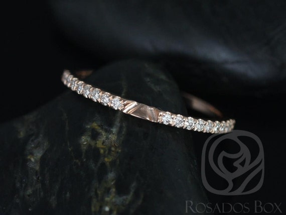 Rosados Box 14kt Matching Band to Shannon Diamonds Halfway Eternity Band