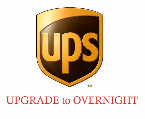 UPGRADE to OVERNIGHT Shipping (Option for USA Only)